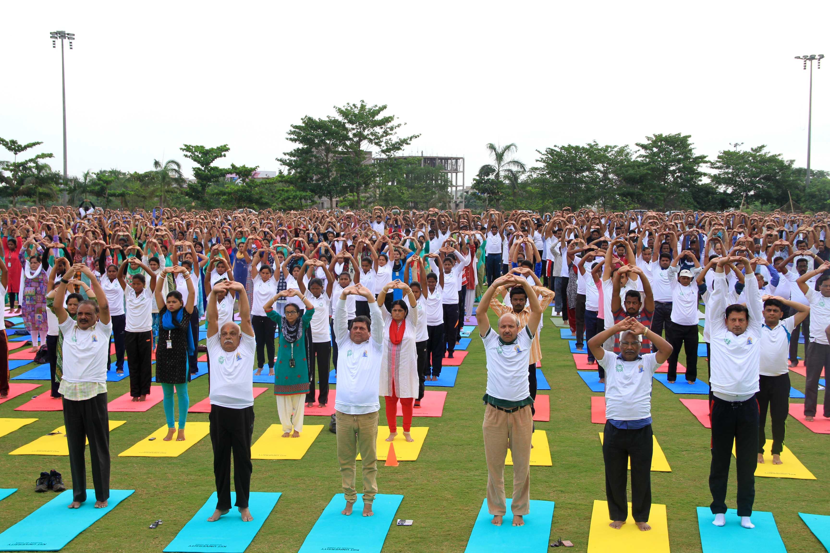 KIIT & KISS Observe International Day of Yoga