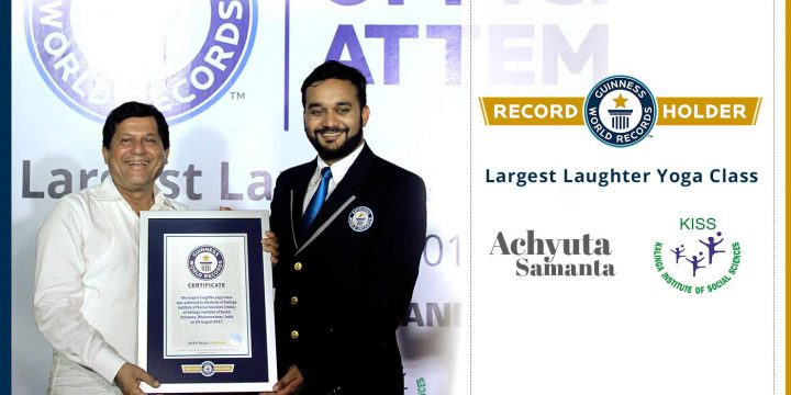 KISS Students Set Another World Record  Guinness World Records in Laughter Yoga