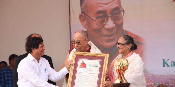 His Holiness The Dalai Lama Receives 10th KISS Humanitarian Award
