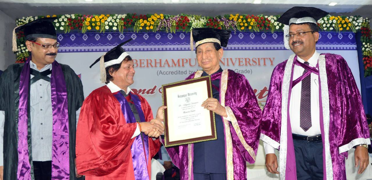 Dr. Achyuta Samanta receiving the Honorary D.Sc. Award from Berhampur University