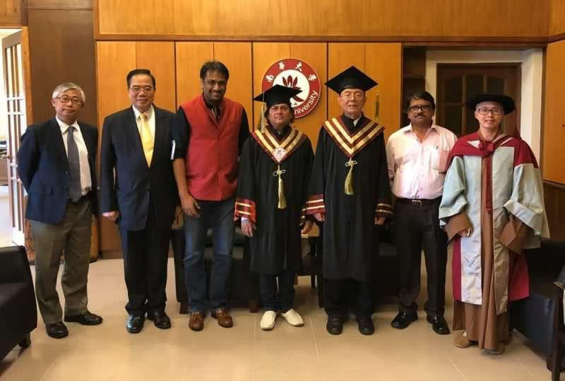 Achyuta Samanta Conferred With Honorary Doctorate Degree From Nanhua University