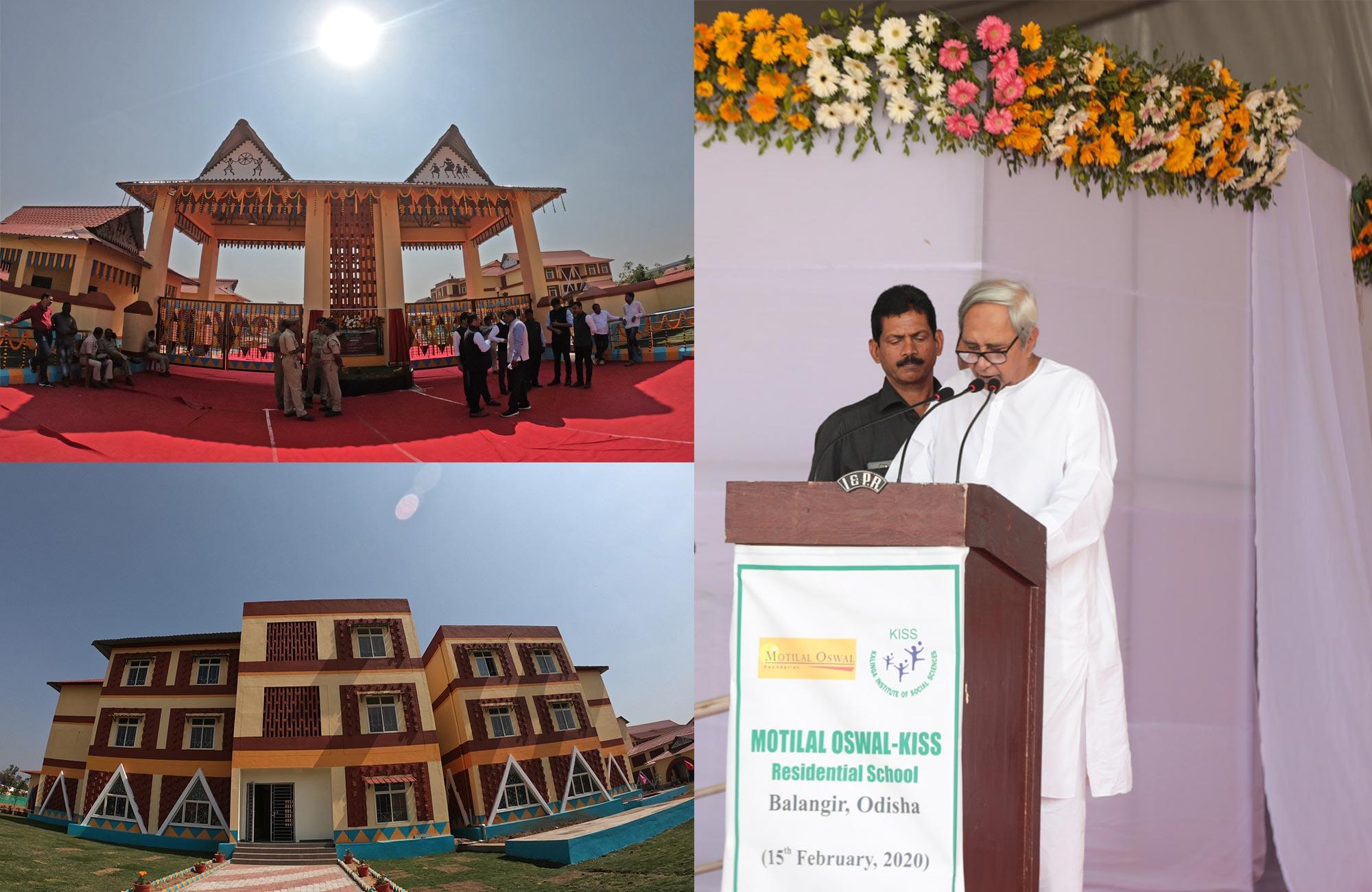 Naveen Patnaik Inaugurates Motilal Oswal-KISS Residential School