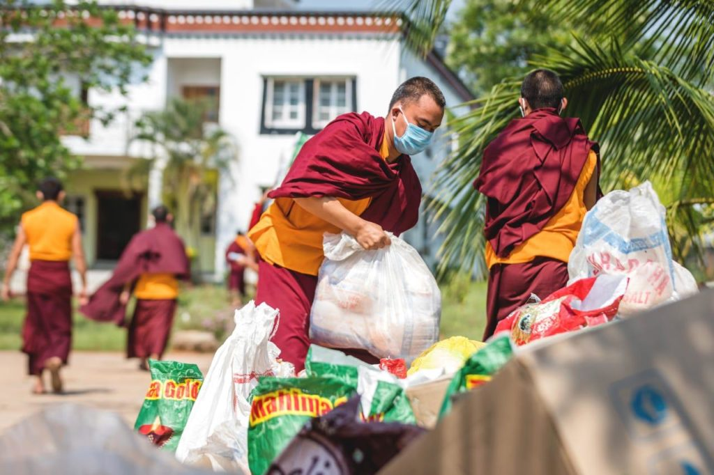 KIIT & KISS help Tibetan Communities Monks jirang Chandragiri Corona Crisis